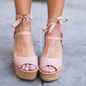 Topshop Shoes - Top shop WISE Ankle-Tie Wedge